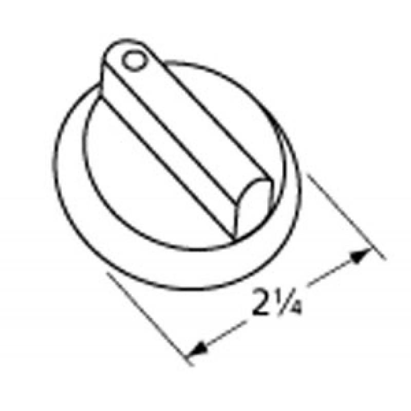 3023 0207 Sunbeam Oem Style Control Knob. Replaces Sunbeam Oem Part #3023-000207. D = 9.