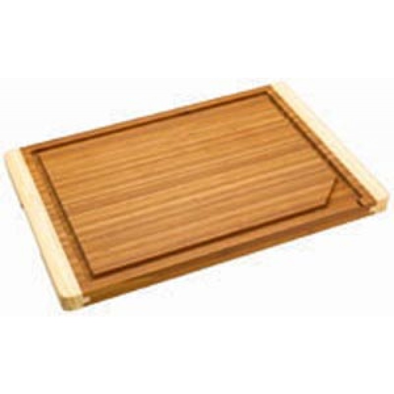 9900410 Bamboo Cutting Board With Moat And Non-Slip Feet. 12in X 18in