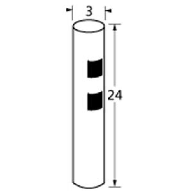 "9901324 3in Diameter, 24in Tall Post 24"" x 3"""