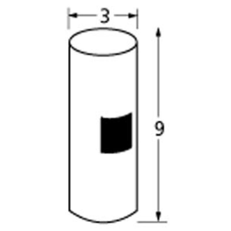 "9901395 3in Diameter, 9in Tall Post 9"" x 3"""