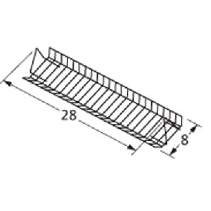 """4152044 Charbroil Porcelain Steel Wire Warming Rack 28"""" x 8"""""""