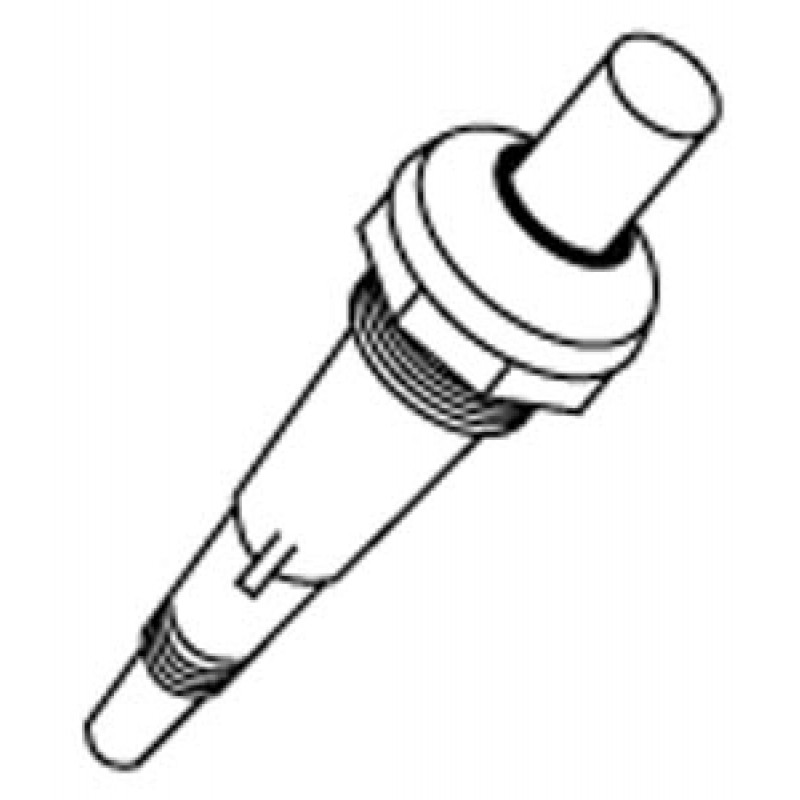 G1136204 Ducane Push-Button Piezo Plunger With External Grounding Prong And Mounting Nut. Grounding Prong May Also Be Used To Conduct Charge To A Secondary Electrode In Grills With A Side Burner.