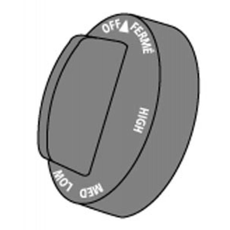 G1129221 Ducane Oem Style Control Knob. D = 12.