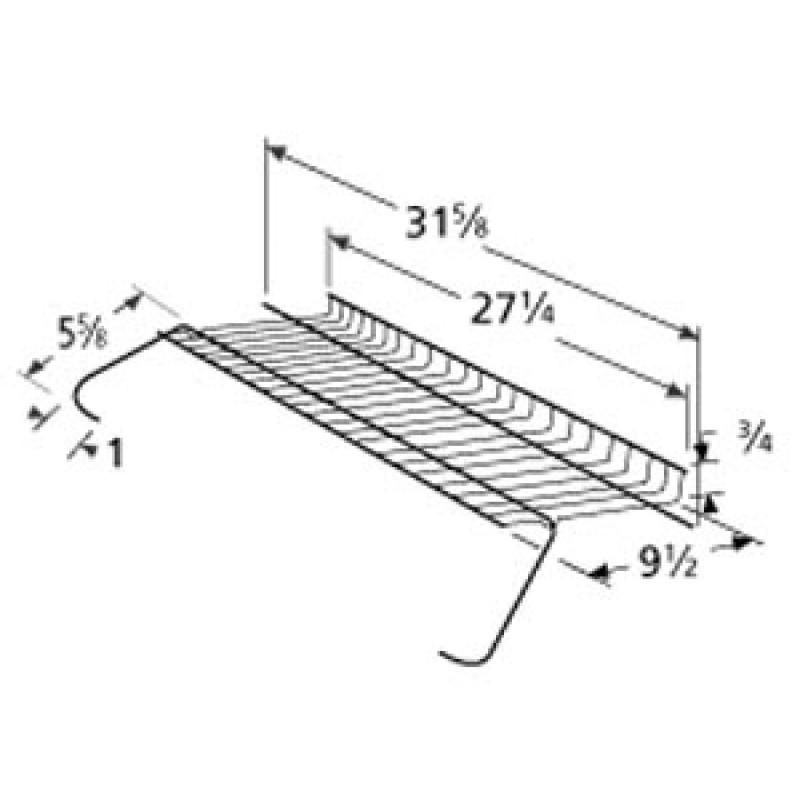 "4152000 Charbroil Chrome Steel Warming Rack 27.25"" x 9.5"""