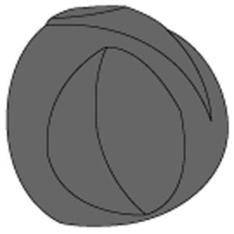 9907309 Control Knob, D = 12, 6Mm Shaft