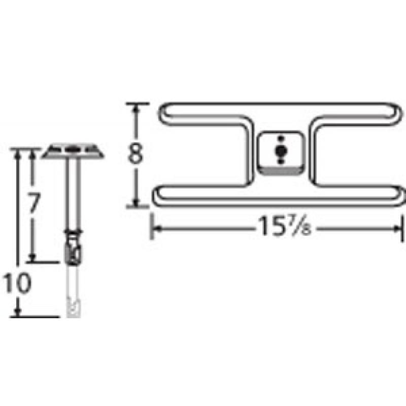 "9910101-70401 Stainless Steel Burner 15.875"" x 8"""