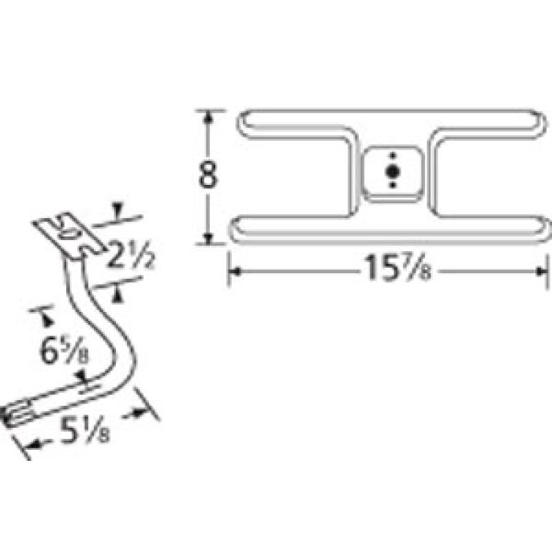 "9910101-70501 Stainless Steel Burner 15.875"" x 8"""