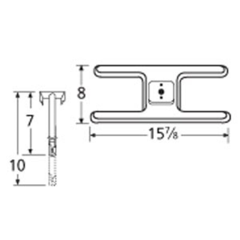 "9910101-71701 Stainless Steel Burner 15.875"" x 8"""