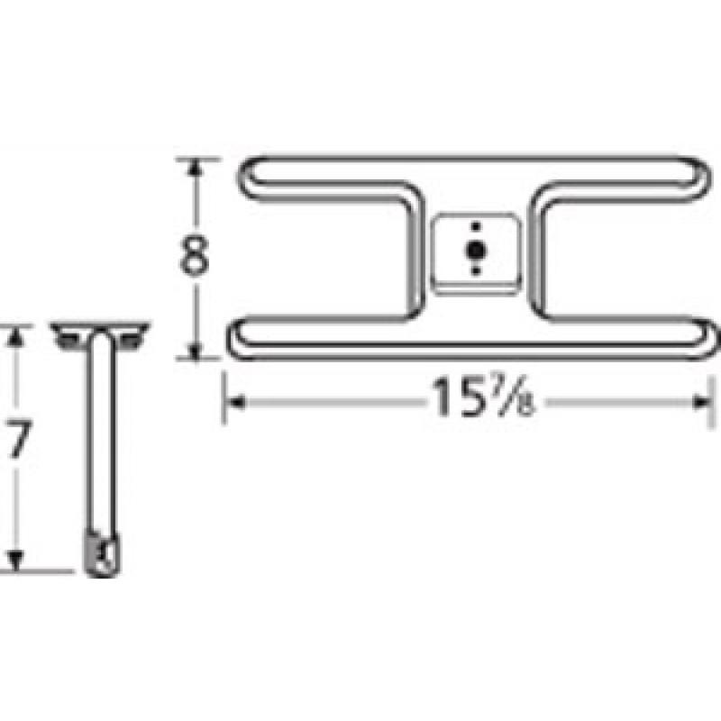 "9910101-72601 Stainless Steel Burner 15.875"" x 8"""