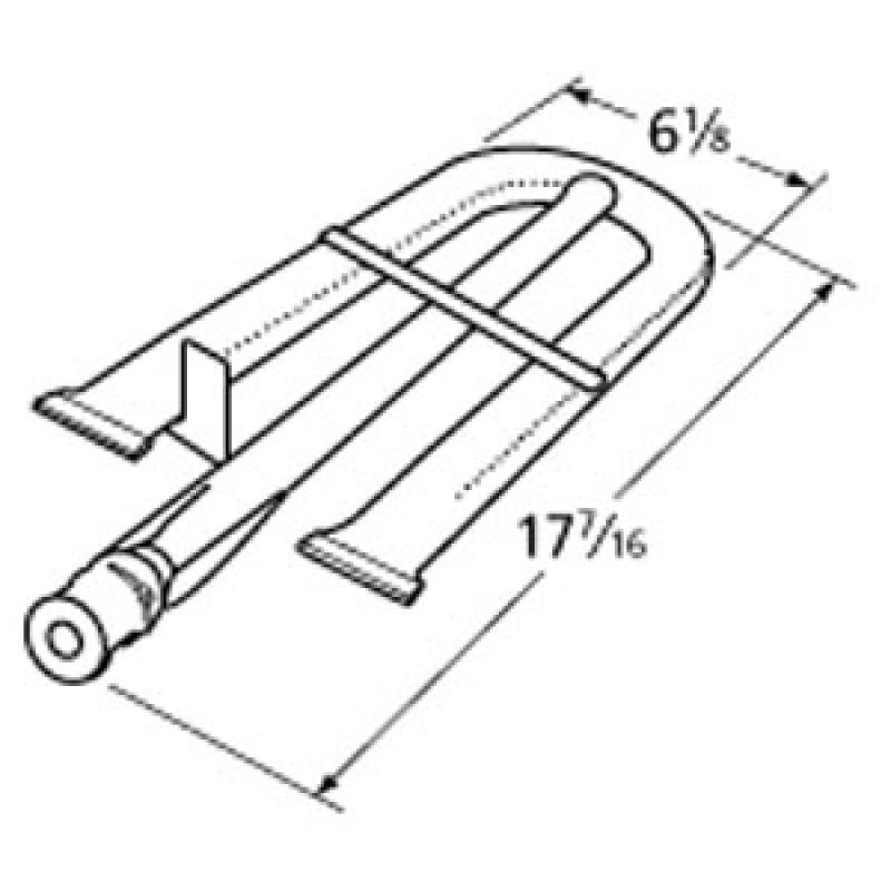 "9910191 Stainless Steel Burner 17.4375"" x 6.125"""