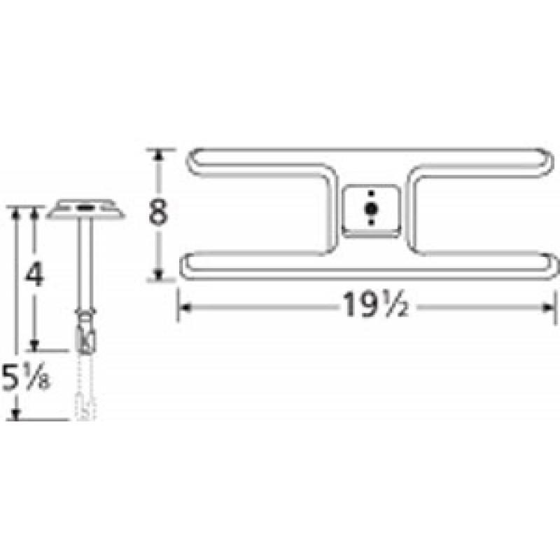"9910201-70201 Stainless Steel Burner 19.5"" x 8"""