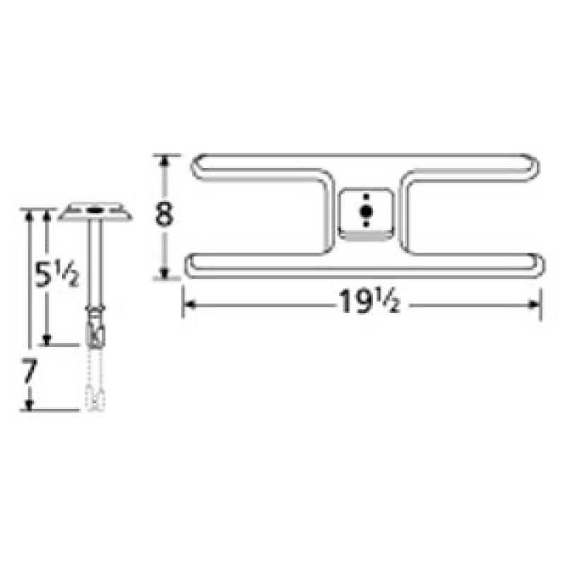 "9910201-70301 Stainless Steel Burner 19.5"" x 8"""
