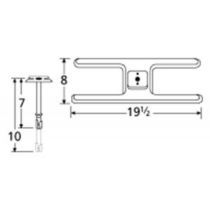 "9910201-70401 Stainless Steel Burner 19.5"" x 8"""