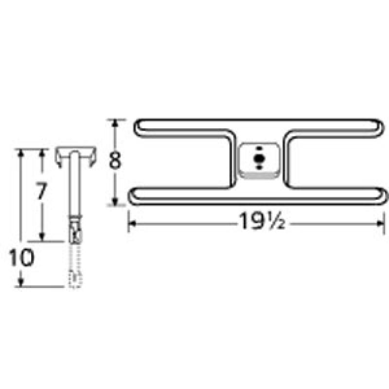 "9910201-71701 Stainless Steel Burner 19.5"" x 8"""