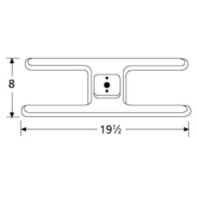 "9910201 Stainless Steel Burner 19.5"" x 8"""