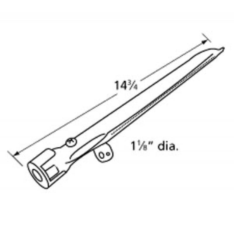 "P02008032A Kirkland Stainless Steel Burner 14.75"" x 1.125"""