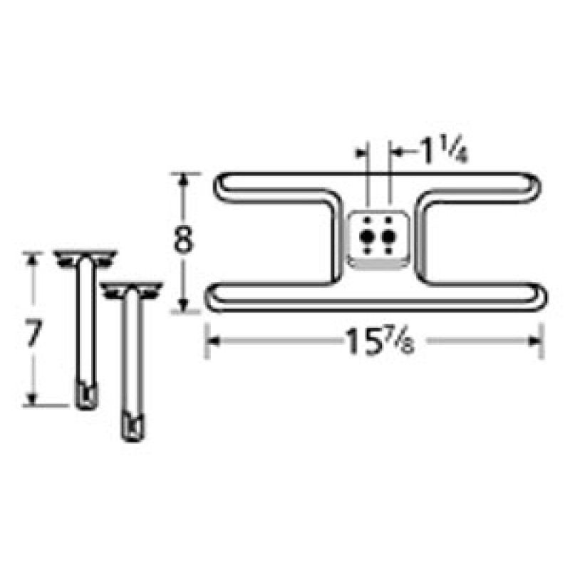 "9910502-72601 Stainless Steel Burner 15.875"" x 8"""