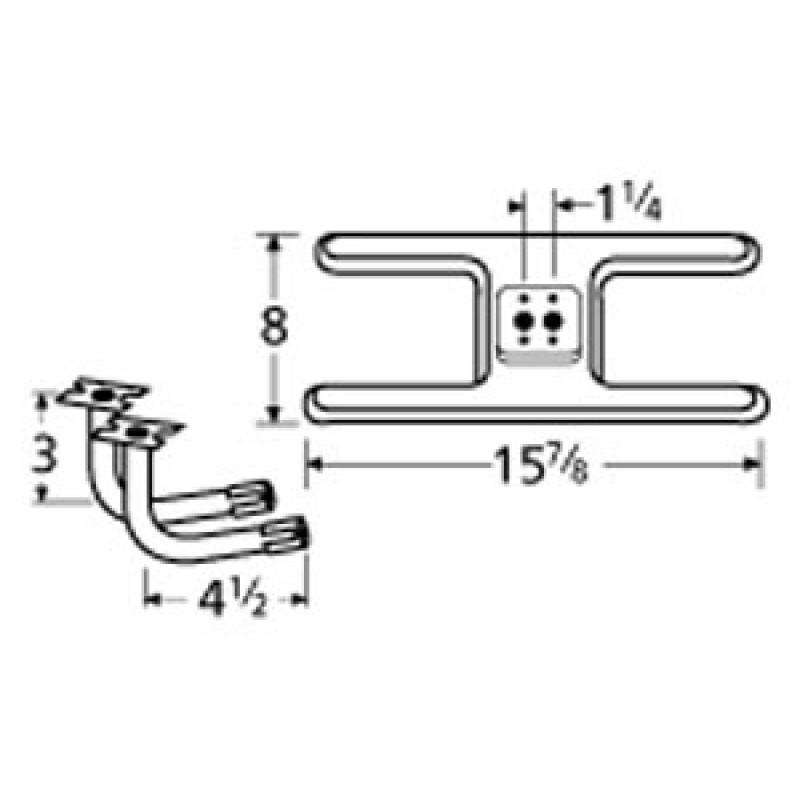 "9910502-73002 Stainless Steel Burner 15.875"" x 8"""