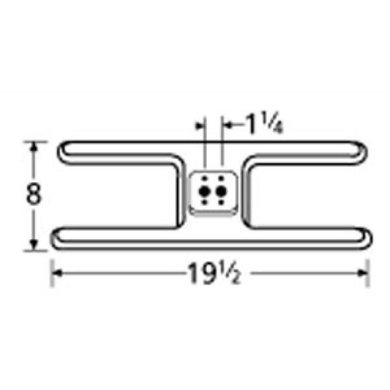 """10420-82 Arkla Stainless Steel Burner 19.5"""" x 8"""""""