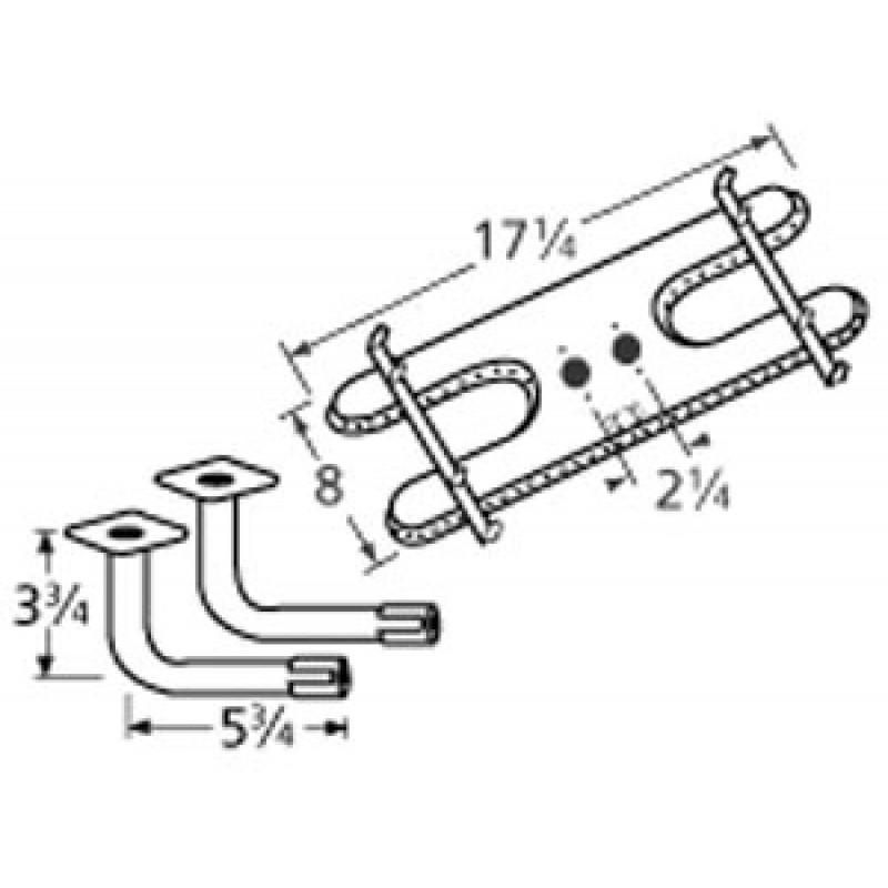"9910902-74302 Stainless Steel Burner 17.25"" x 8"""