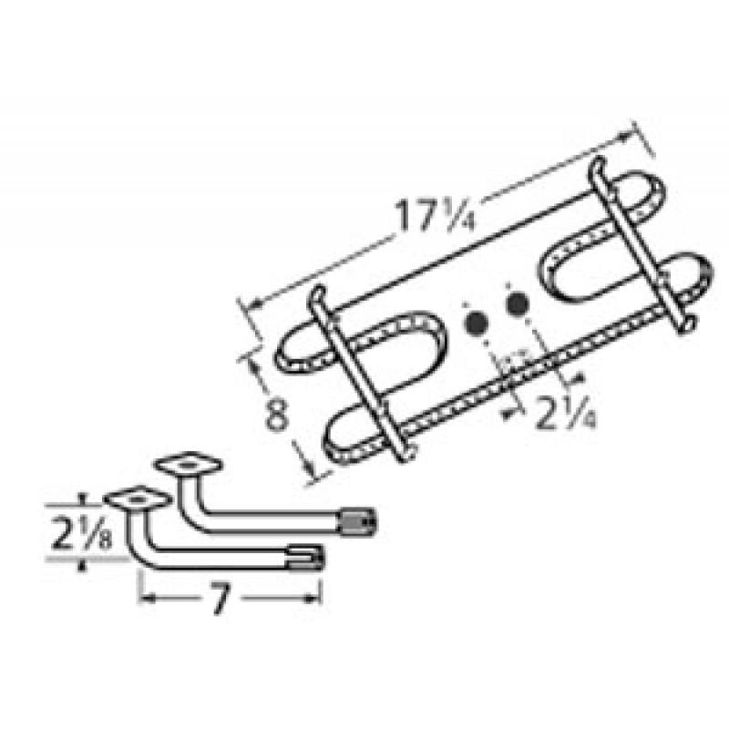 "9910902-74802 Stainless Steel Burner 17.25"" x 8"""