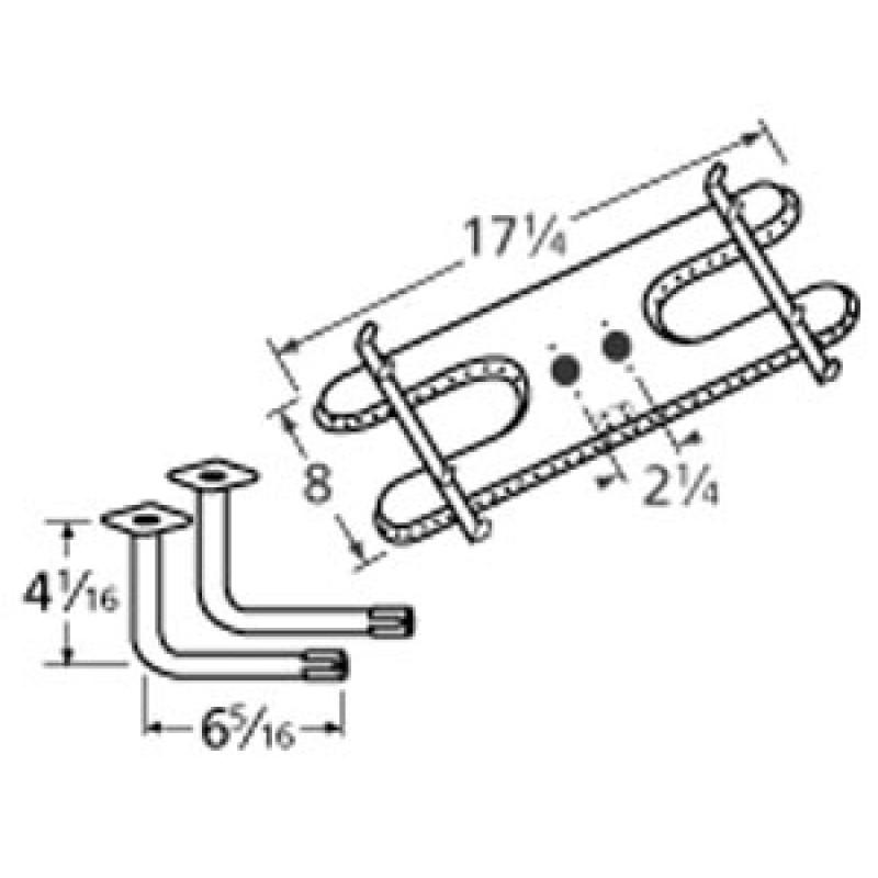 "0403 103-4039 9 Sunbeam Stainless Steel Burner 17.25"" x 8"""