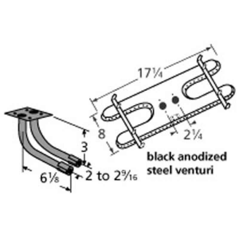 "9910902-78202 Stainless Steel Burner 17.25"" x 8"""