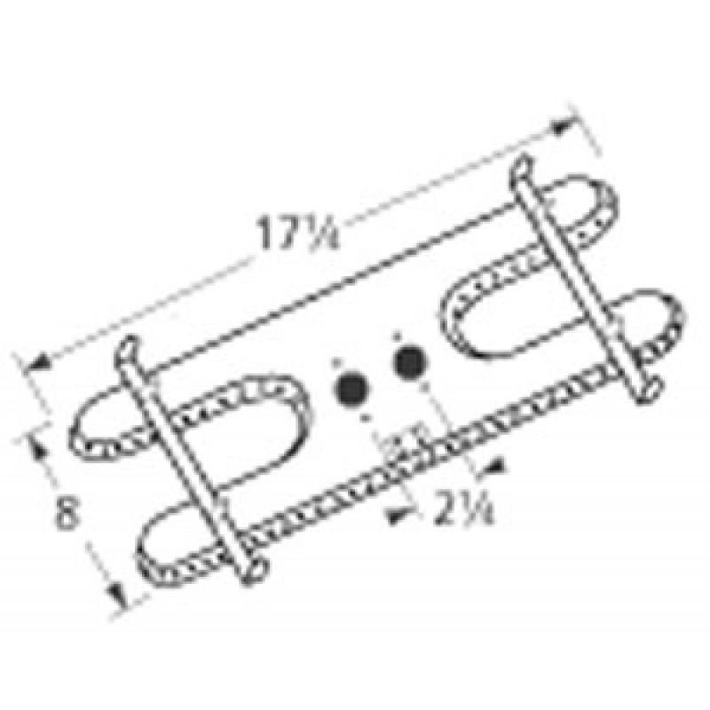 "9910902 Stainless Steel Burner 17.25"" x 8"""