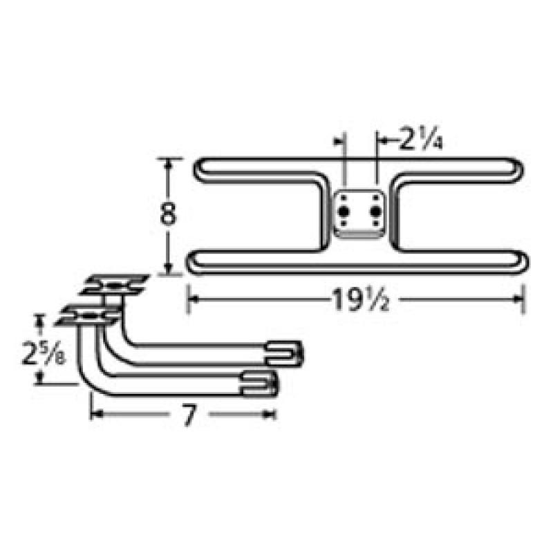 "9911002-73702 Stainless Steel Burner 19.5"" x 8"""