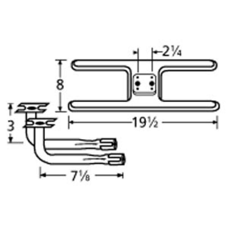 "9911002-73902 Stainless Steel Burner 19.5"" x 8"""