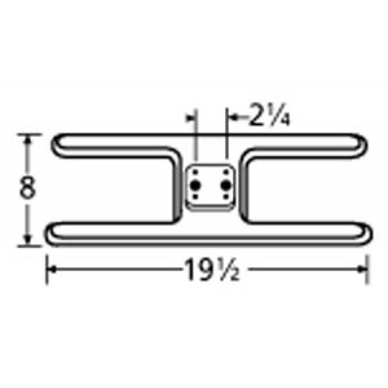 "9911002 Stainless Steel Burner 19.5"" x 8"""