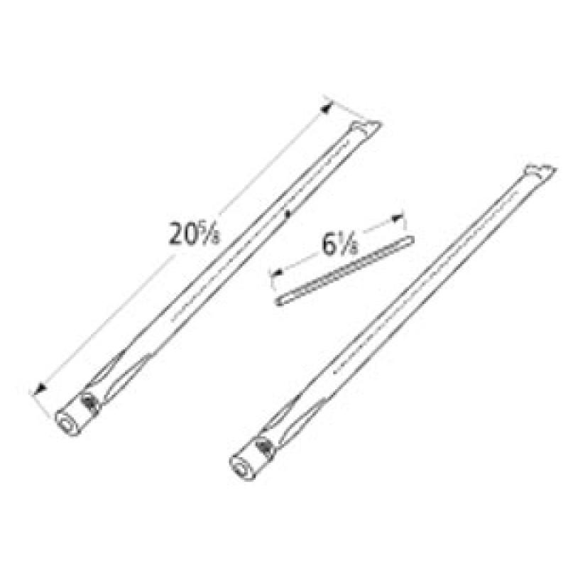 """418414184241843 Weber Stainless Steel Burner Set 20.625"""" x 6.125"""""""