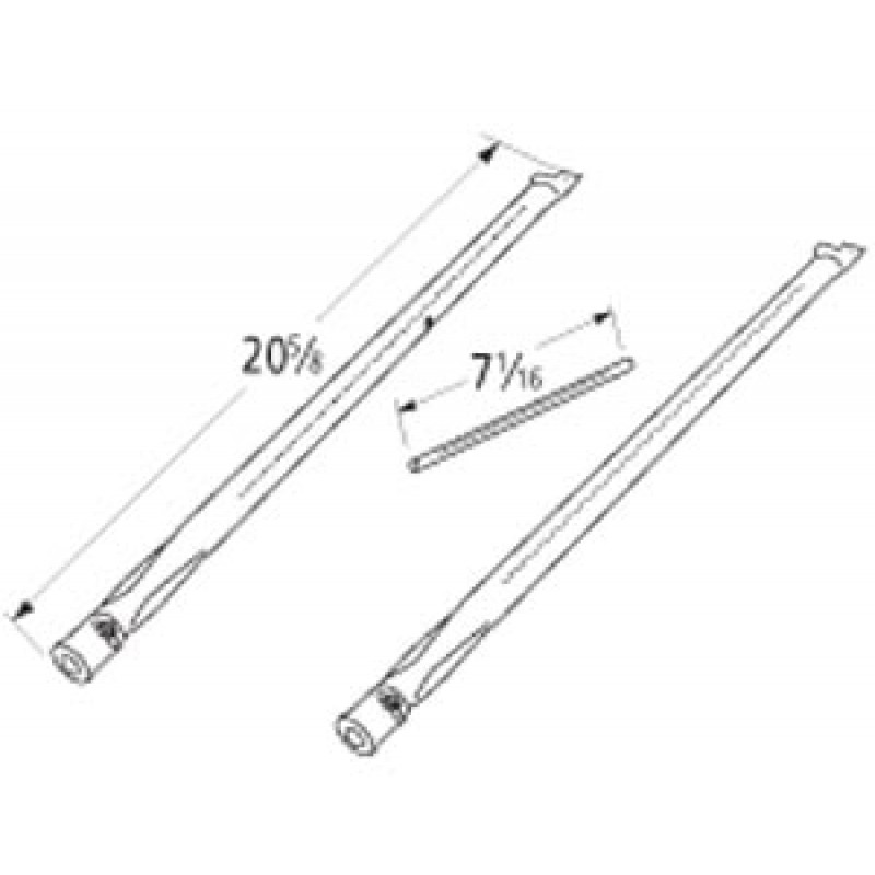 "9911853 Stainless Steel Burner Set 20.625"" x 7.0625"""