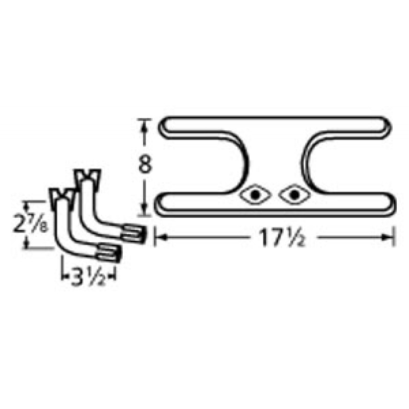 "9911902-76602 Stainless Steel Burner 17.5"" x 8"""