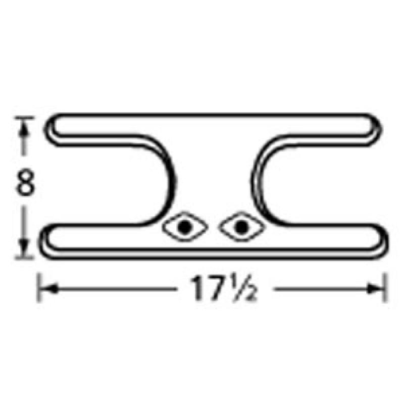 "9911902 Stainless Steel Burner 17.5"" x 8"""