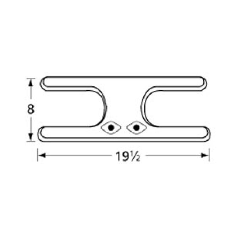 "9912002 Stainless Steel Burner 19.5"" x 8"""