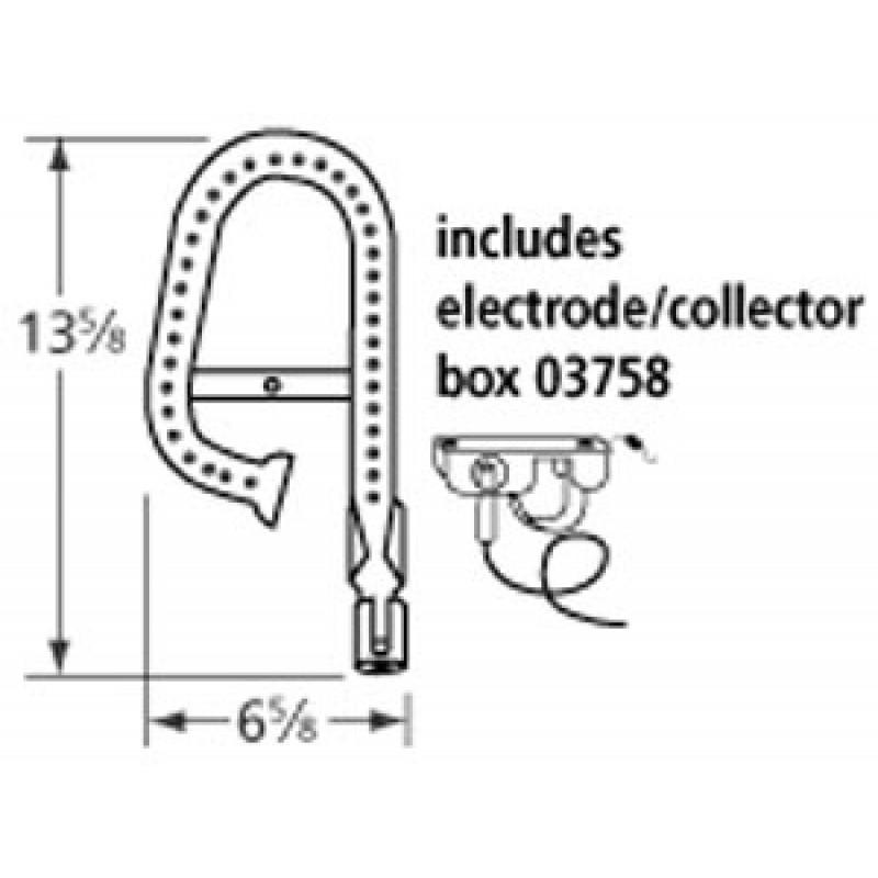 "9912011 Stainless Steel Burner 13.625"" x 6.625"""