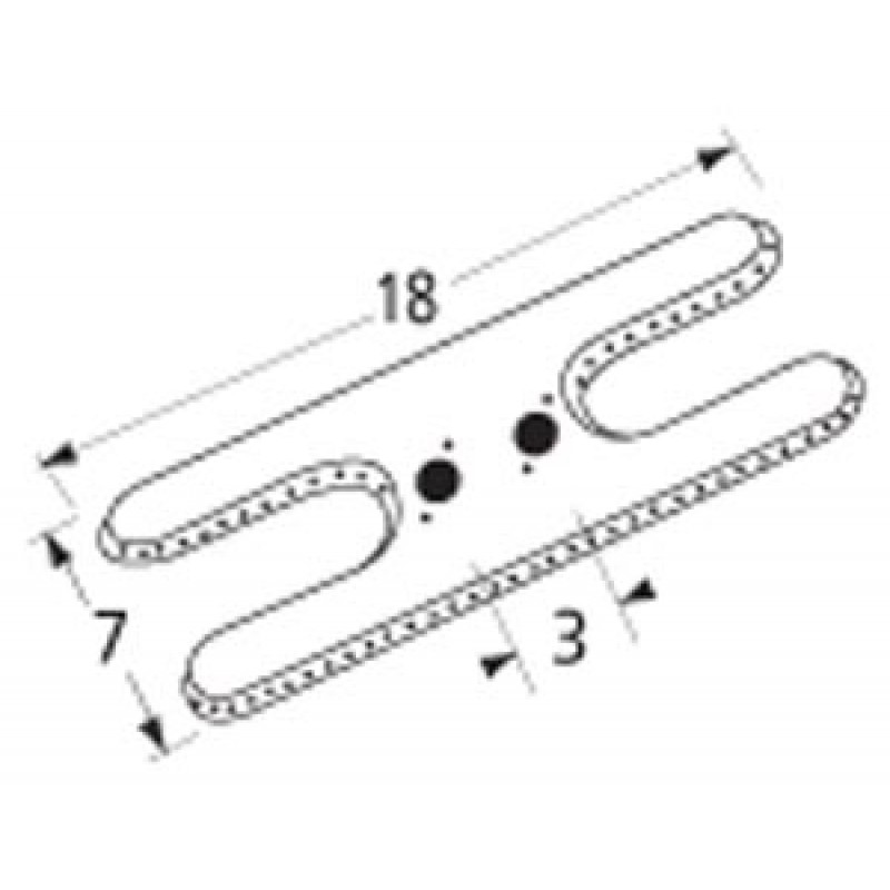 "9912202 Stainless Steel Burner 18"" x 7"""