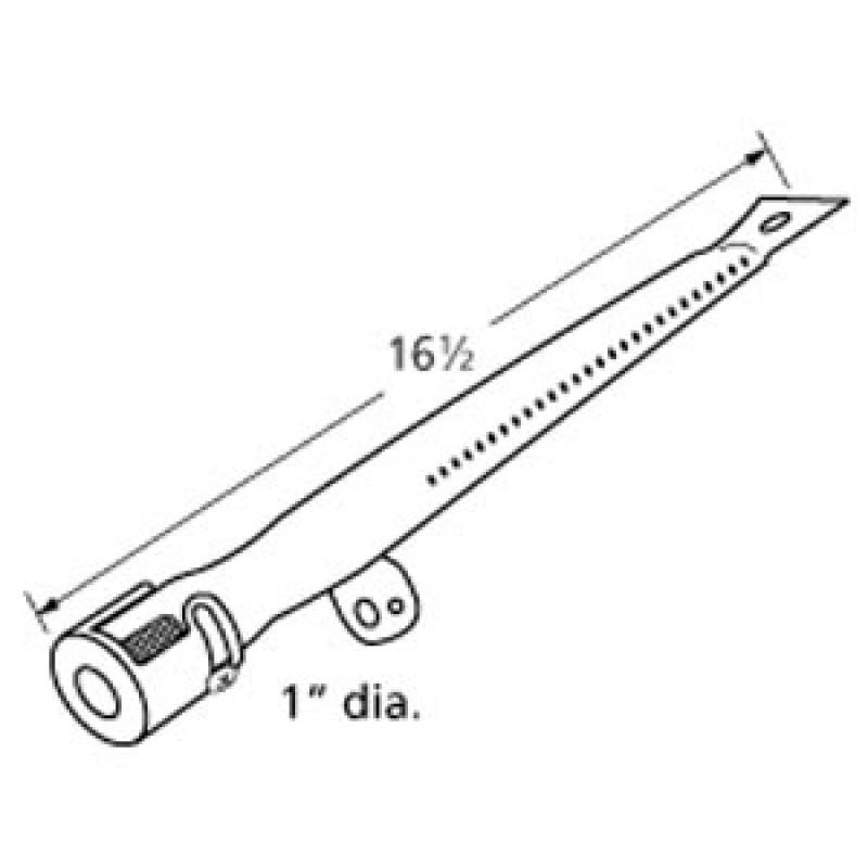 "LX2618-JB Stainless Steel Burner 16.5"" x 1"""