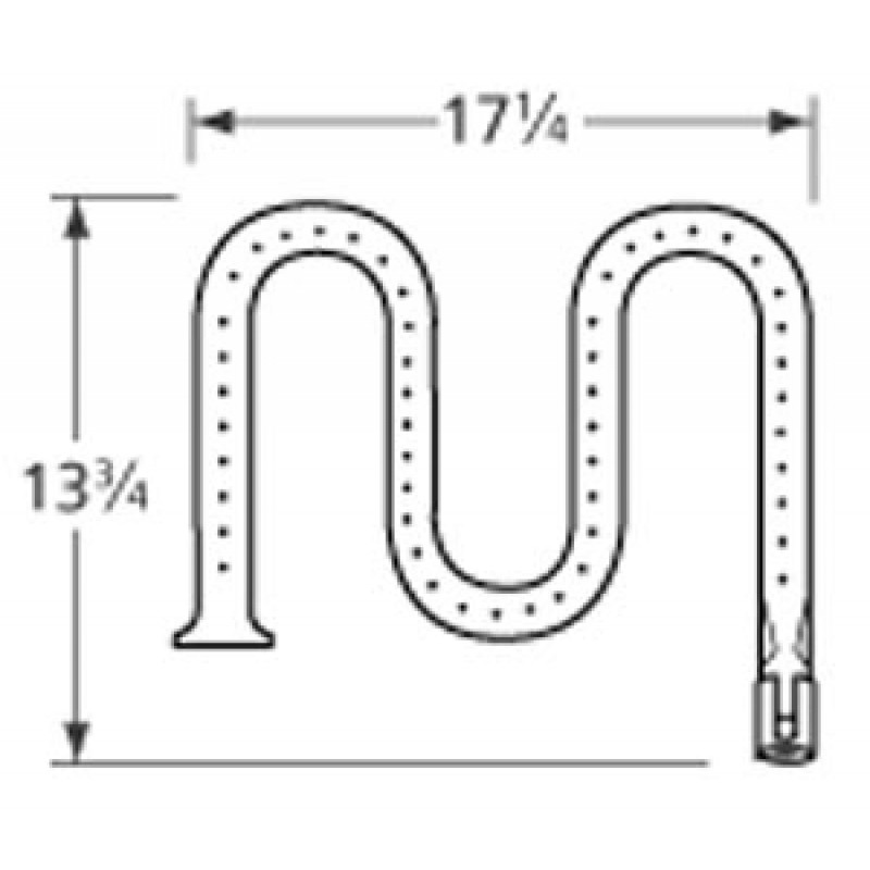 """G4264016 Ducane Stainless Steel Burner 13.75"""" x 17.25"""""""