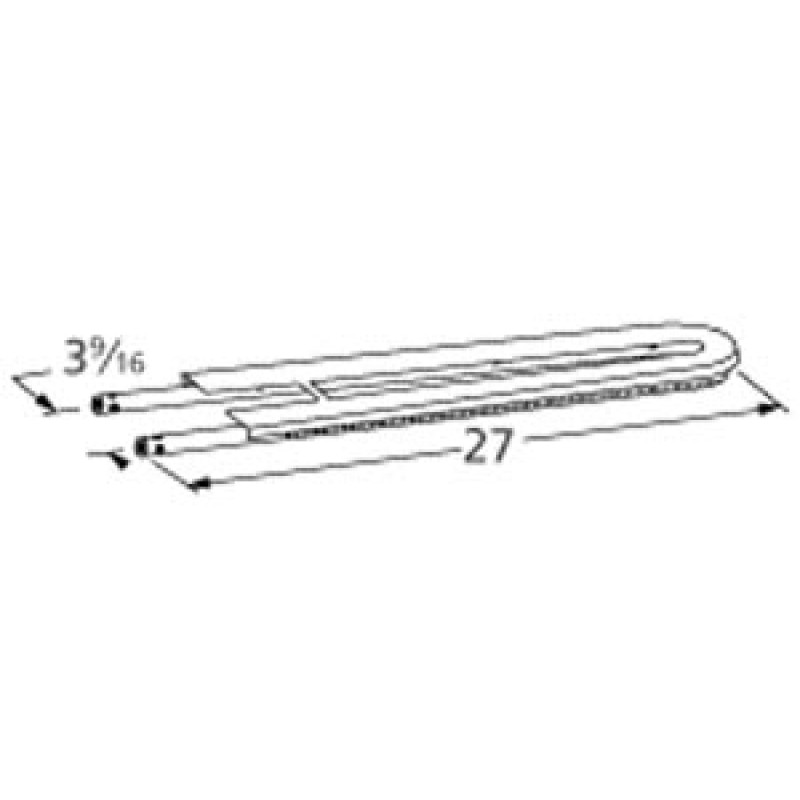 "9913702 Stainless Steel Burner 27"" x 3.5625"""