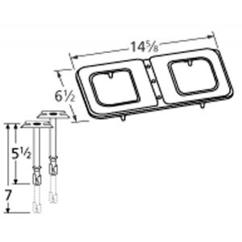 "9914102-70301 Stainless Steel Burner 14.625"" x 6.5"""