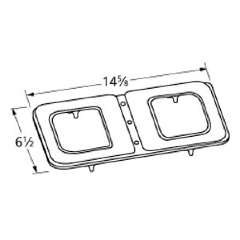 "9914102 Stainless Steel Burner 14.625"" x 6.5"""