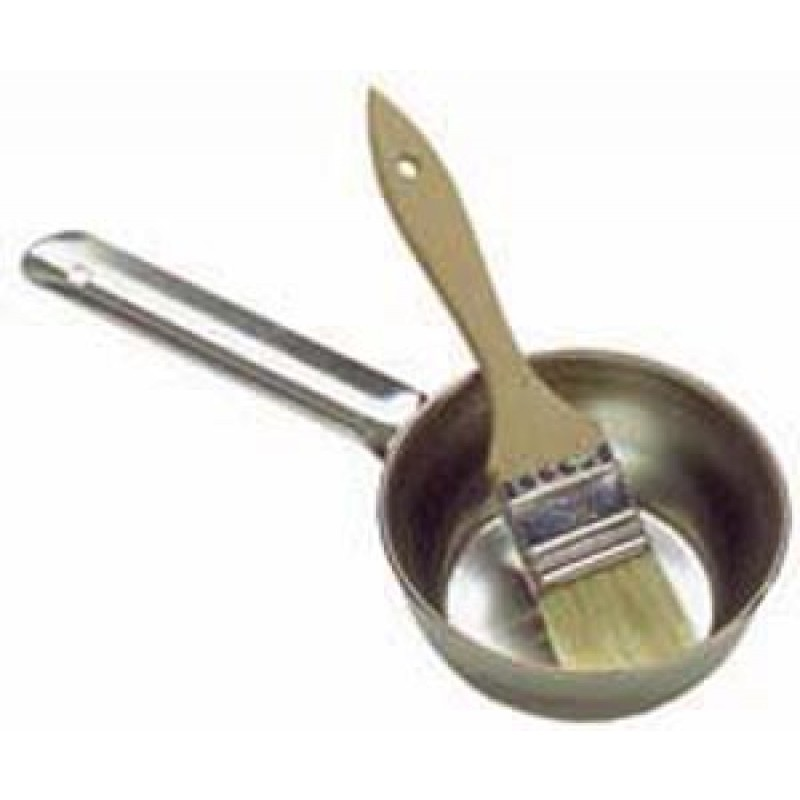 9914913 Basting Set: Stainless Steel Bowl & Basting Brush Combo