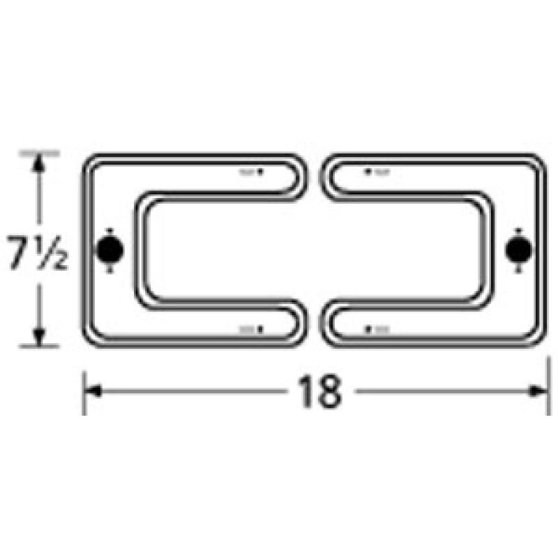 "9915002 Stainless Steel Burner 18"" x 7.5"""