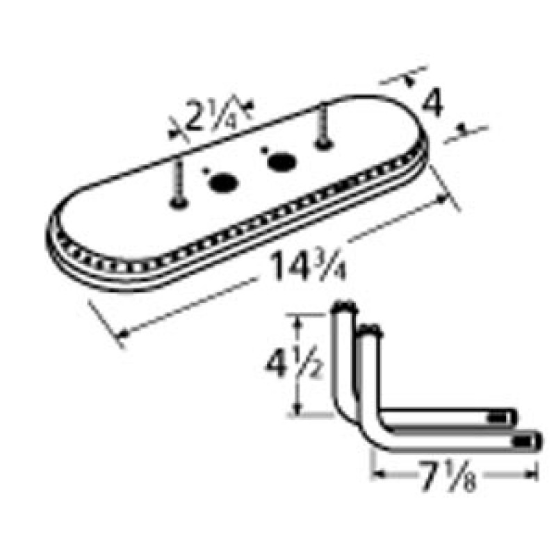 "9915112-71122 Aluminized Steel Burner 14.75"" x 4"""