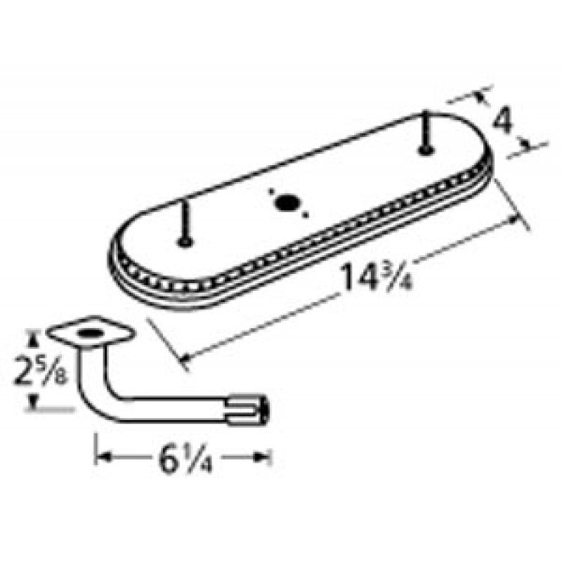 "9915301-77011 Stainless Steel Burner 14.75"" x 4"""