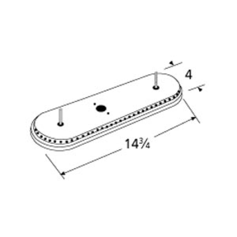 "9915301 Stainless Steel Burner 14.75"" x 4"""