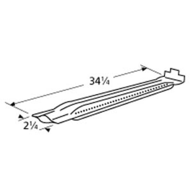 "9915341 Galvanized Steel Burner 34.25"" x 2.25"""