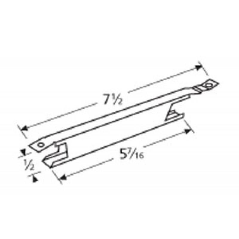 """9915551 Stainless Steel Cross-Over Burner 7.5"""" x 0.5"""""""